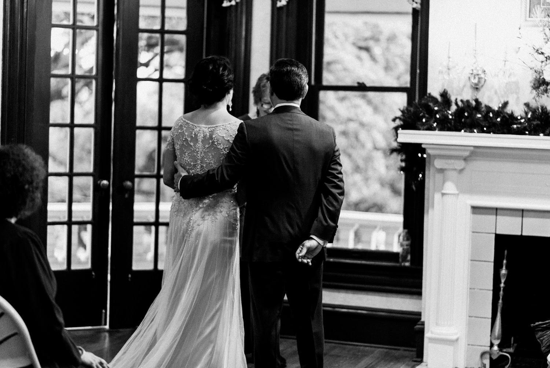 wedding in victorian home
