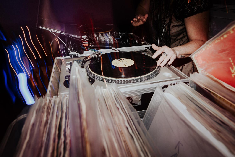 wedding dj spinning records