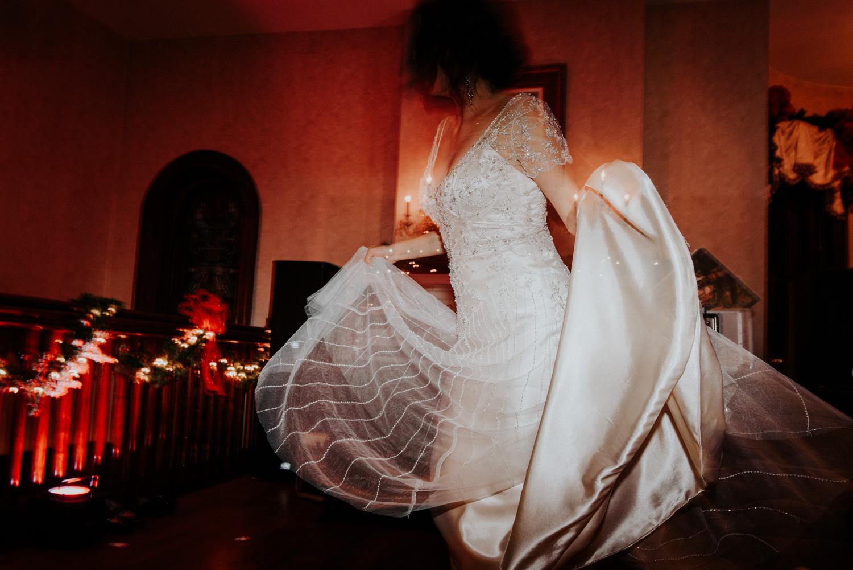bride dances at her wedding