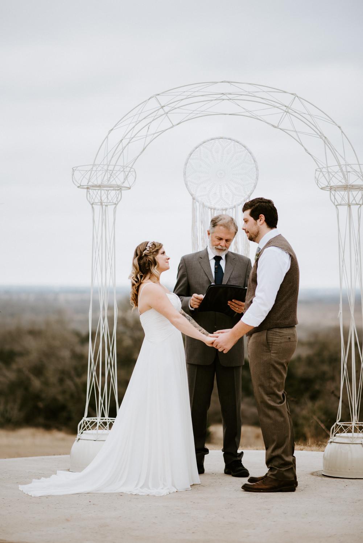 A wedding Ceremony at TerrAdorna in Manor Texas