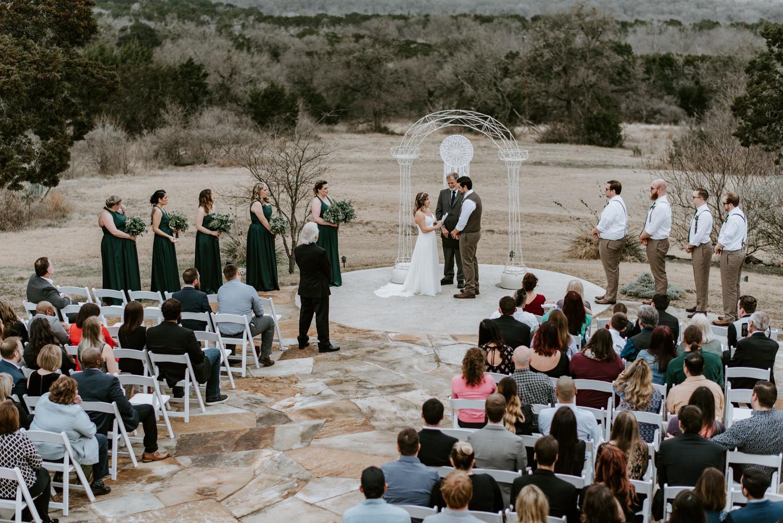 Wedding ceremony at TerrAdorna event venue