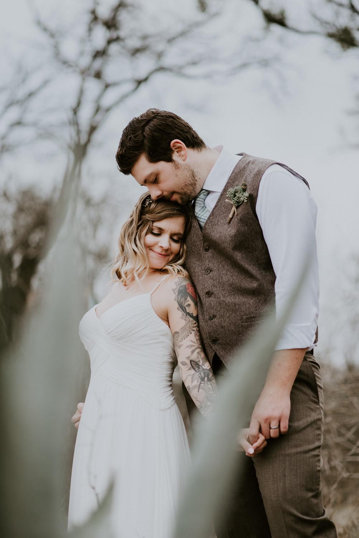wedding portrait with cactus