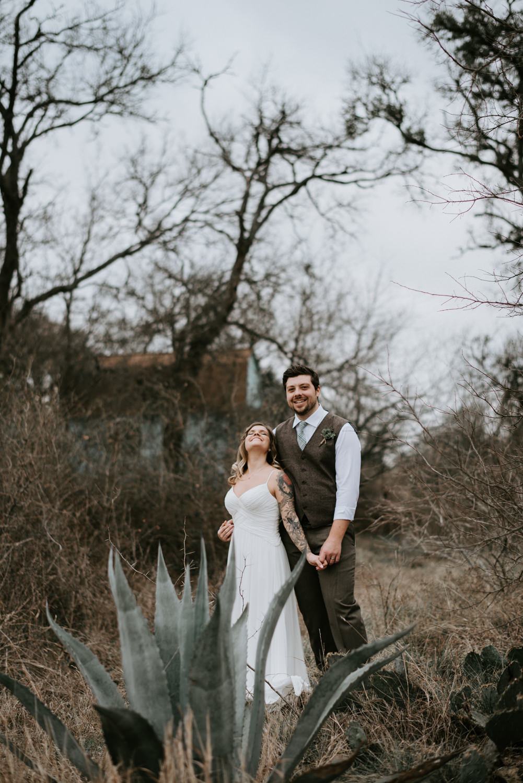 happy bride and groom portraits