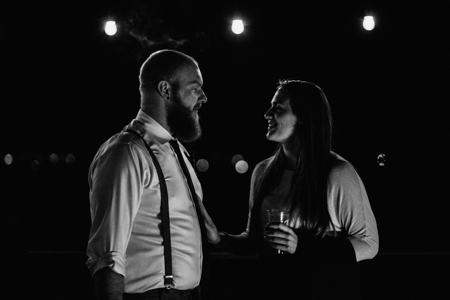 moody wedding party pictures