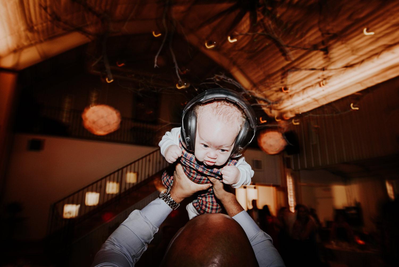 baby dancing at wedding in austin