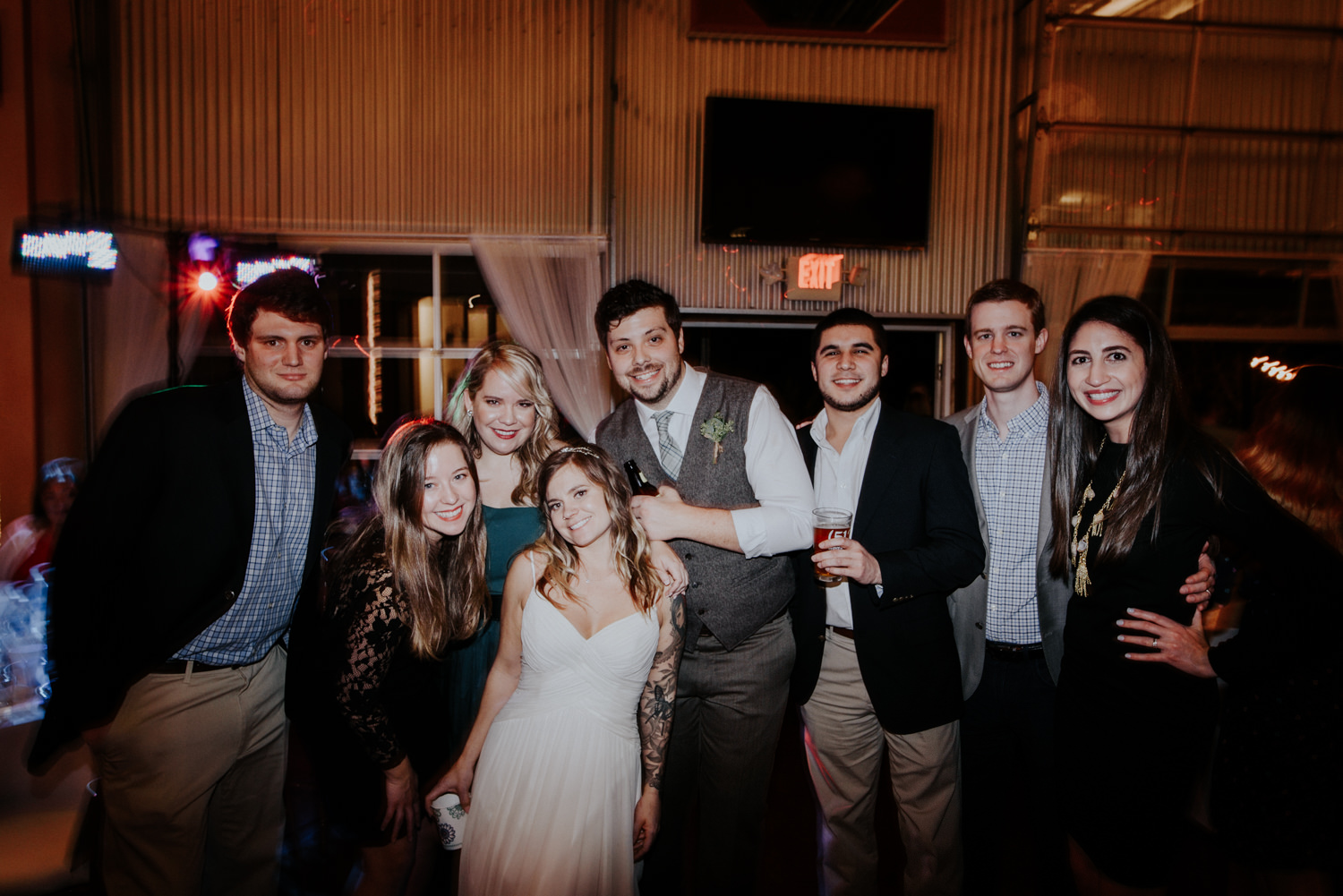 wedding couple and guest party