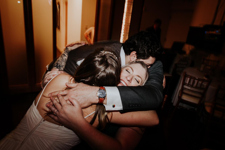 wedding dance floor hug