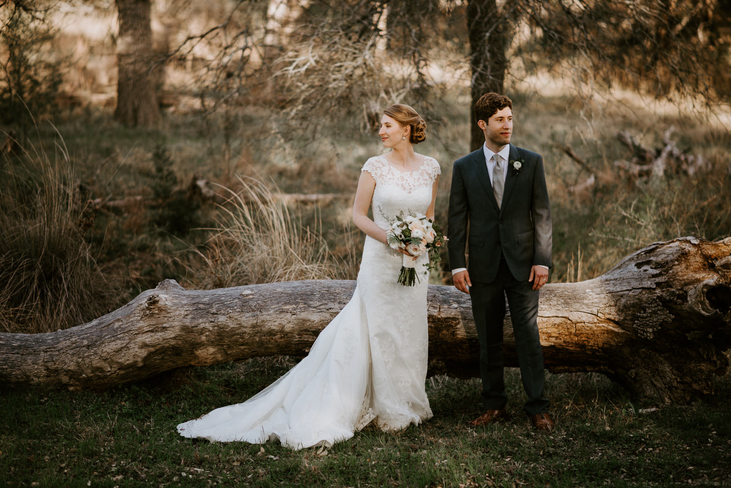 Happy Couple at Texas Hill Country Wedding
