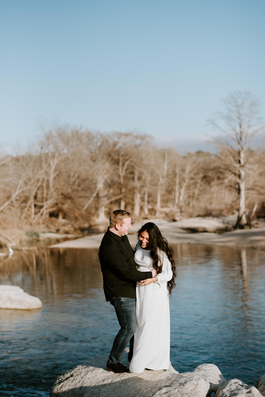 engagement photo taken on onion creek