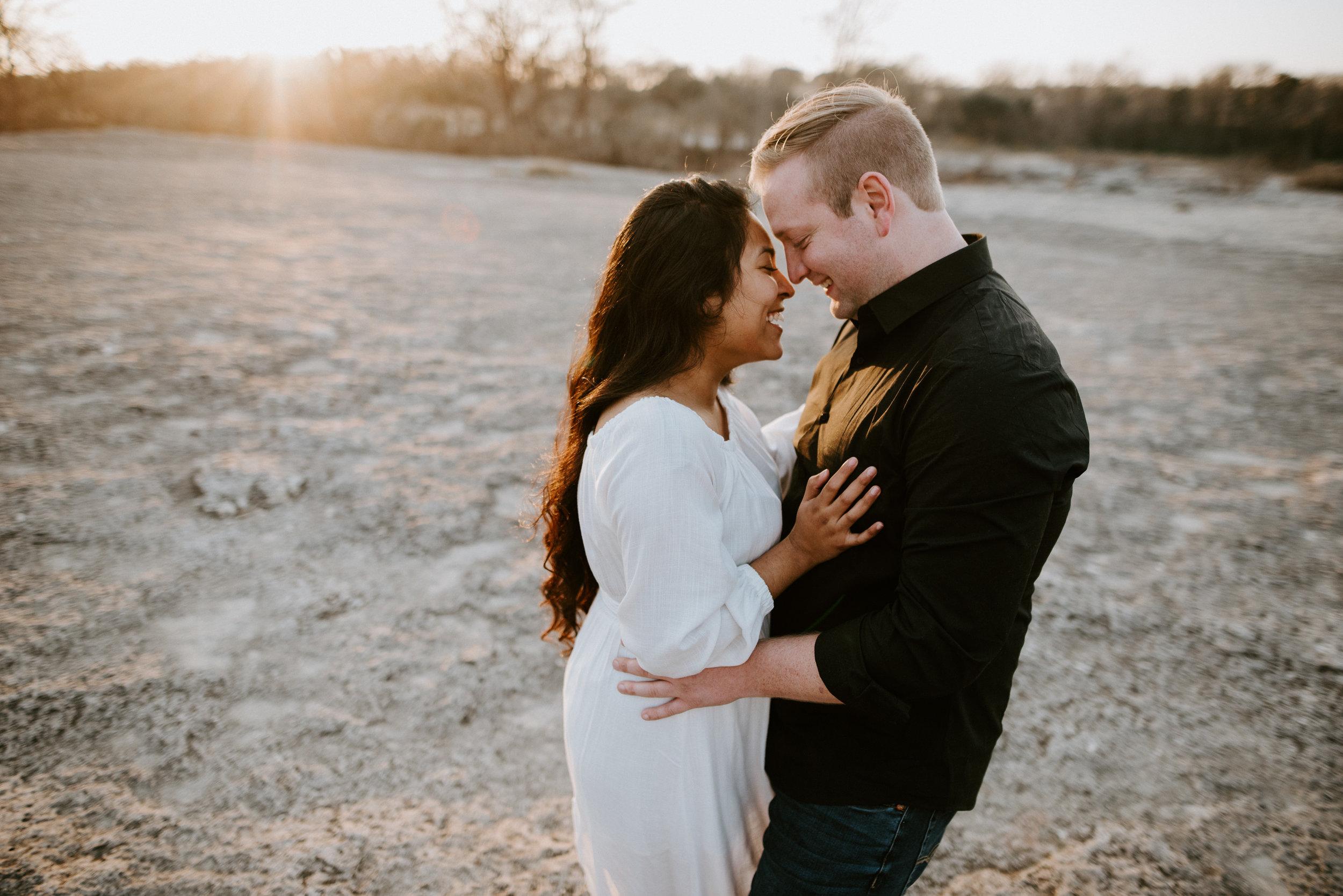 romantic engagement photos at austin park