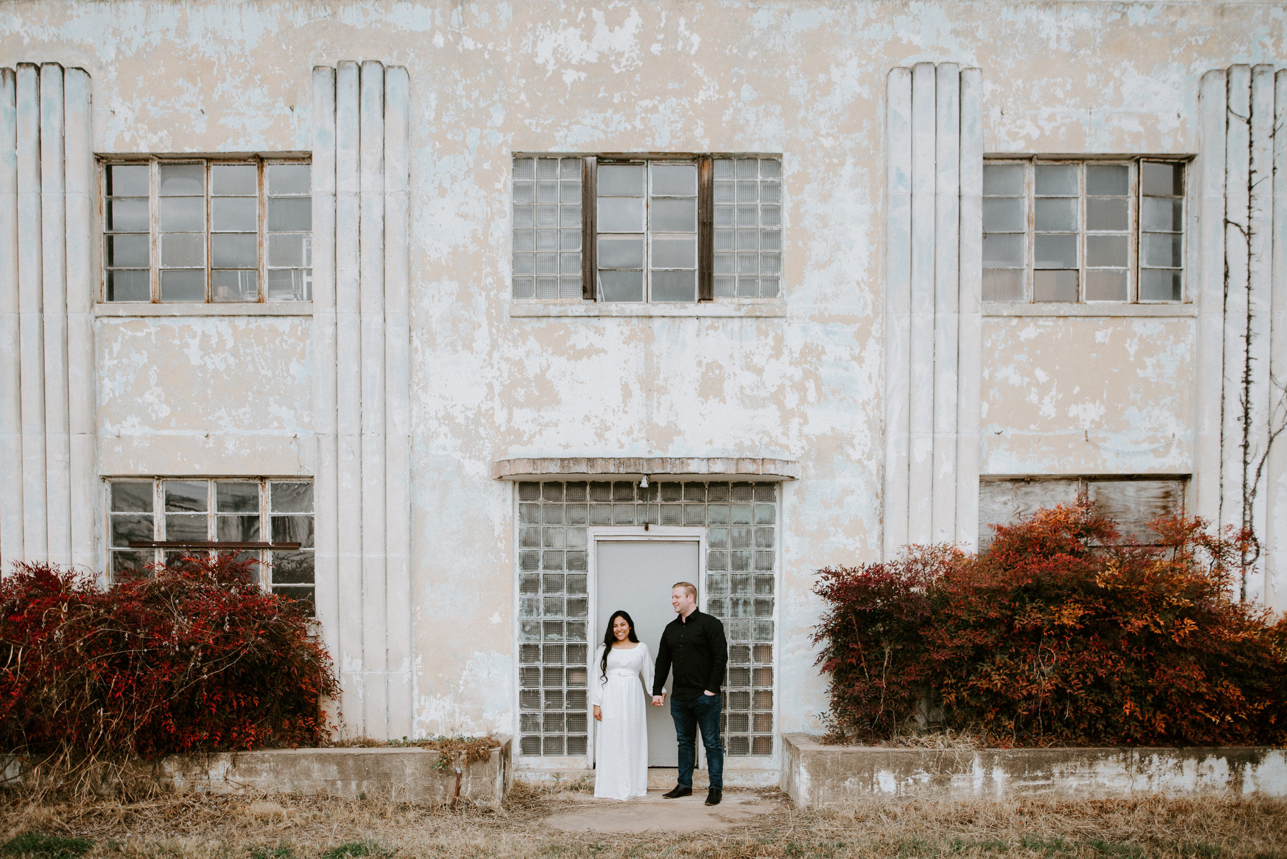 abandoned building engagement photos