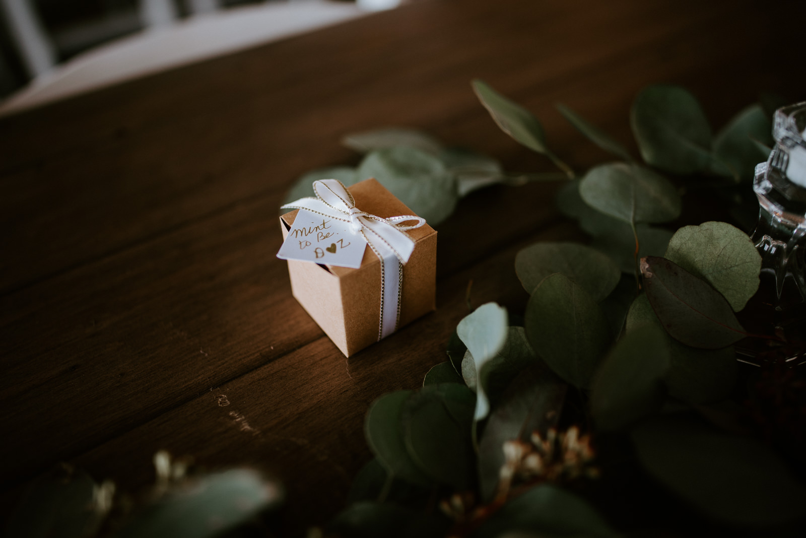 handmade wedding favor mint box