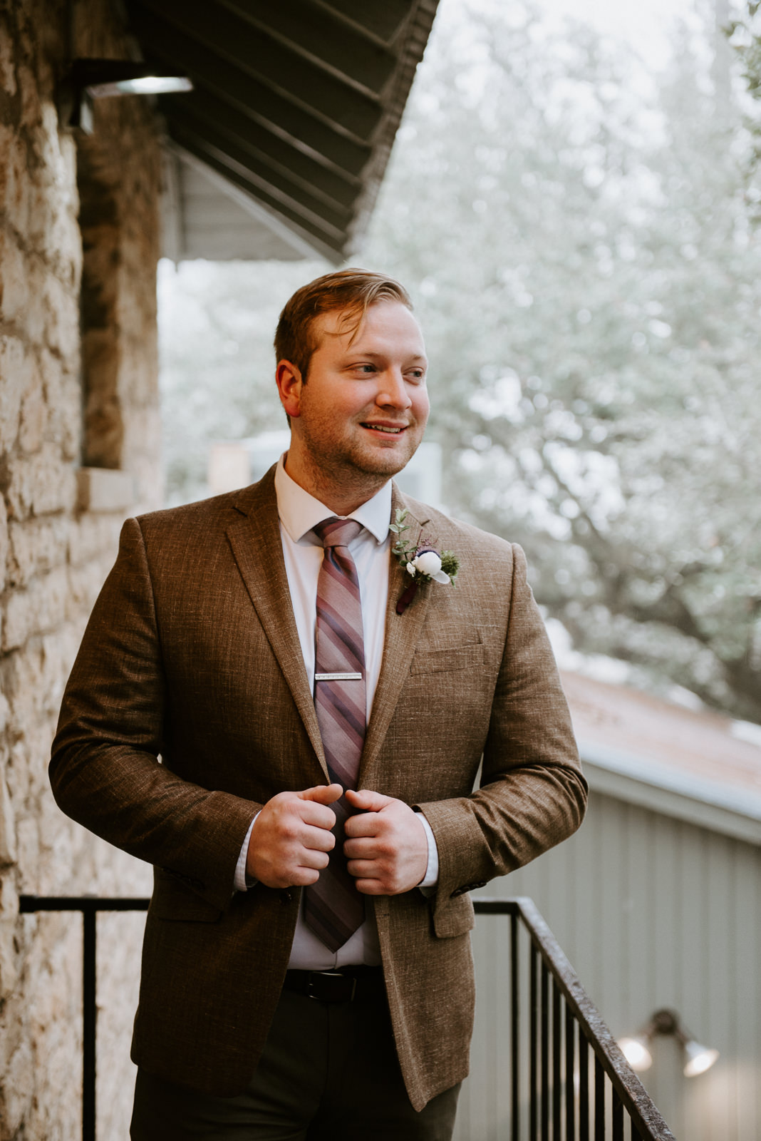groom portrait at texas wedding