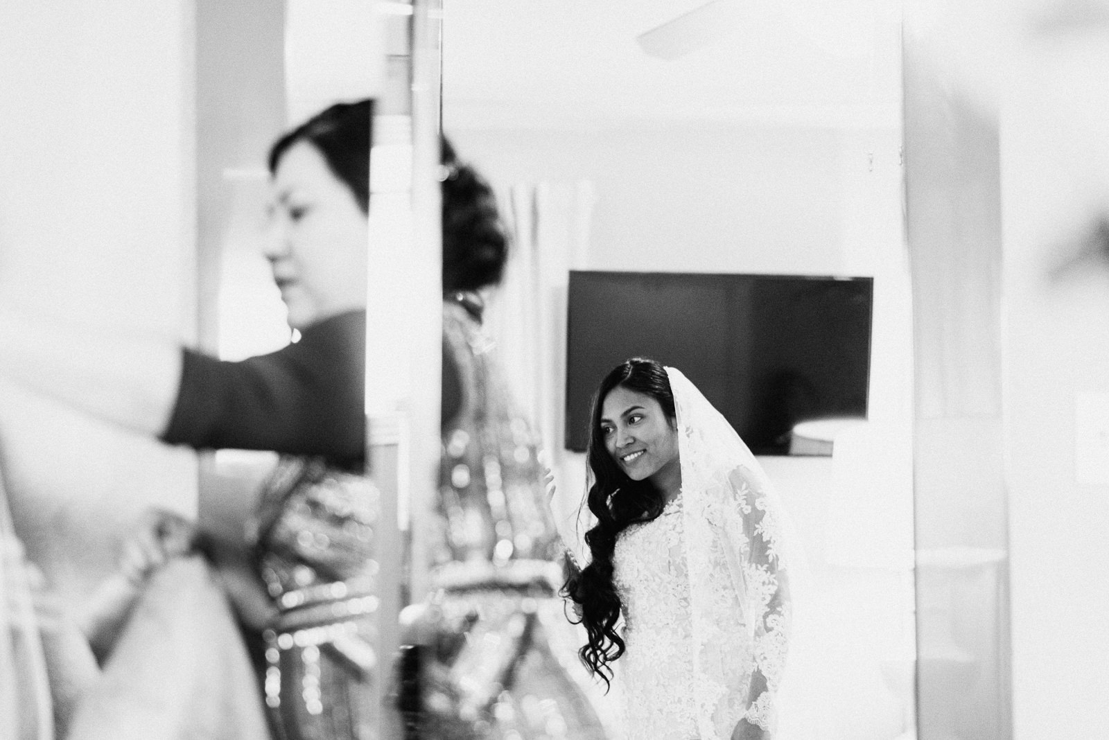 bride gets ready before wedding