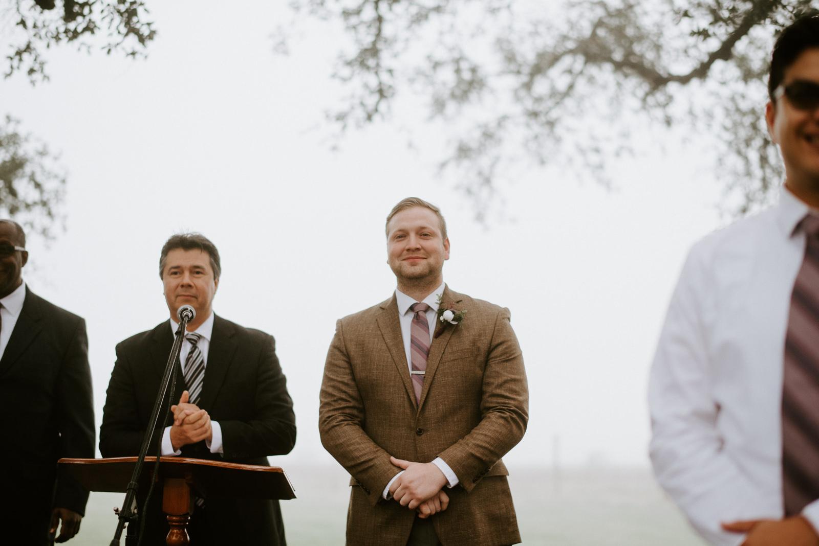 groom sees his bride at austin texas wedding