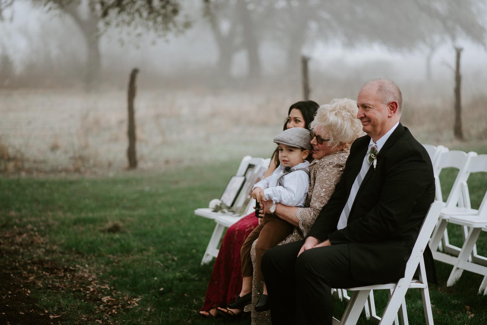 family at stonehouse villa wedding
