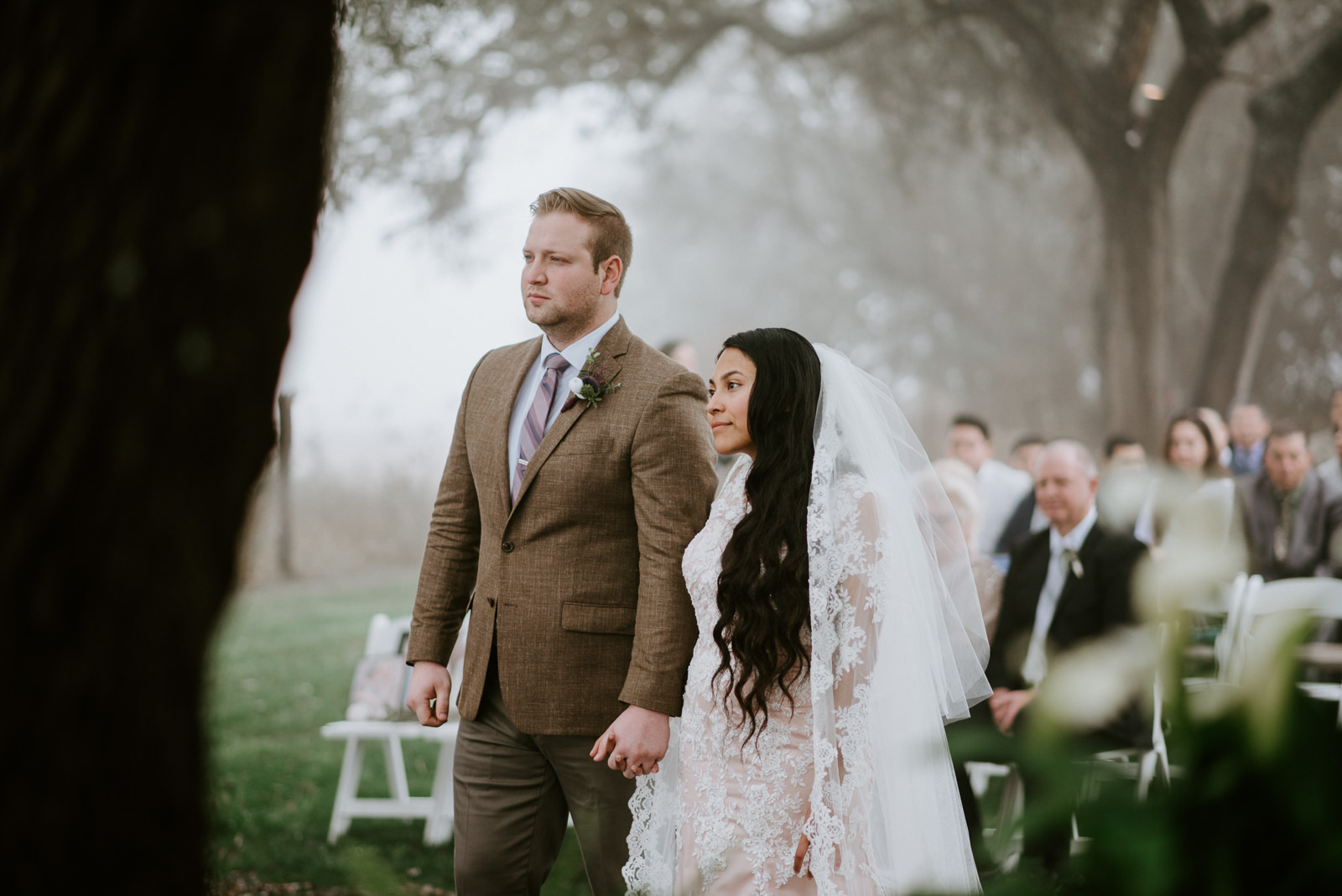 bride and groom at the altar during texas wedding ceremony