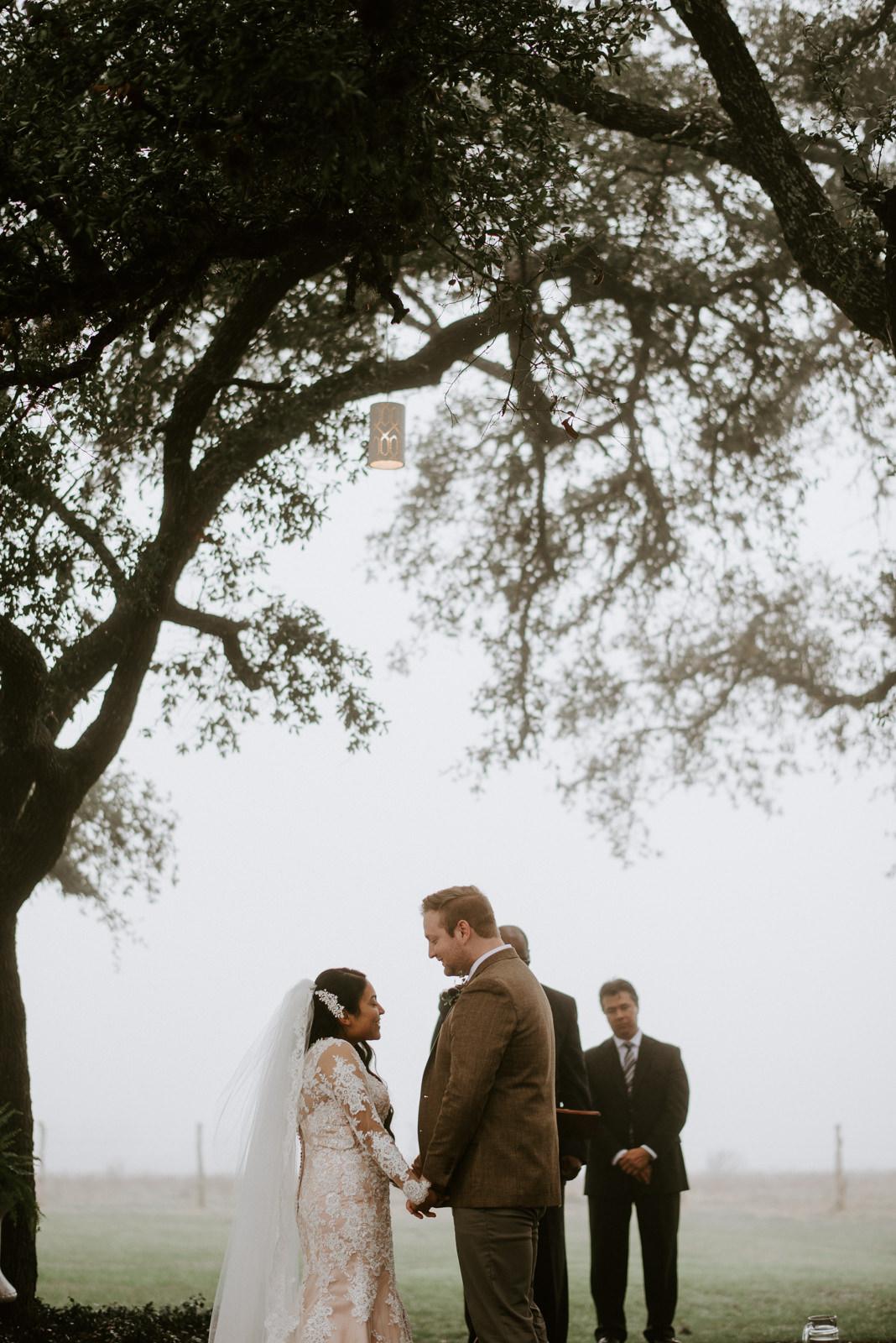 wedding altar at texas hill country wedding