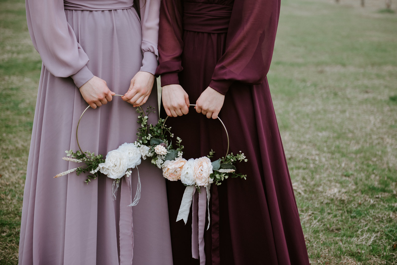 bridesmaids at texas wedding