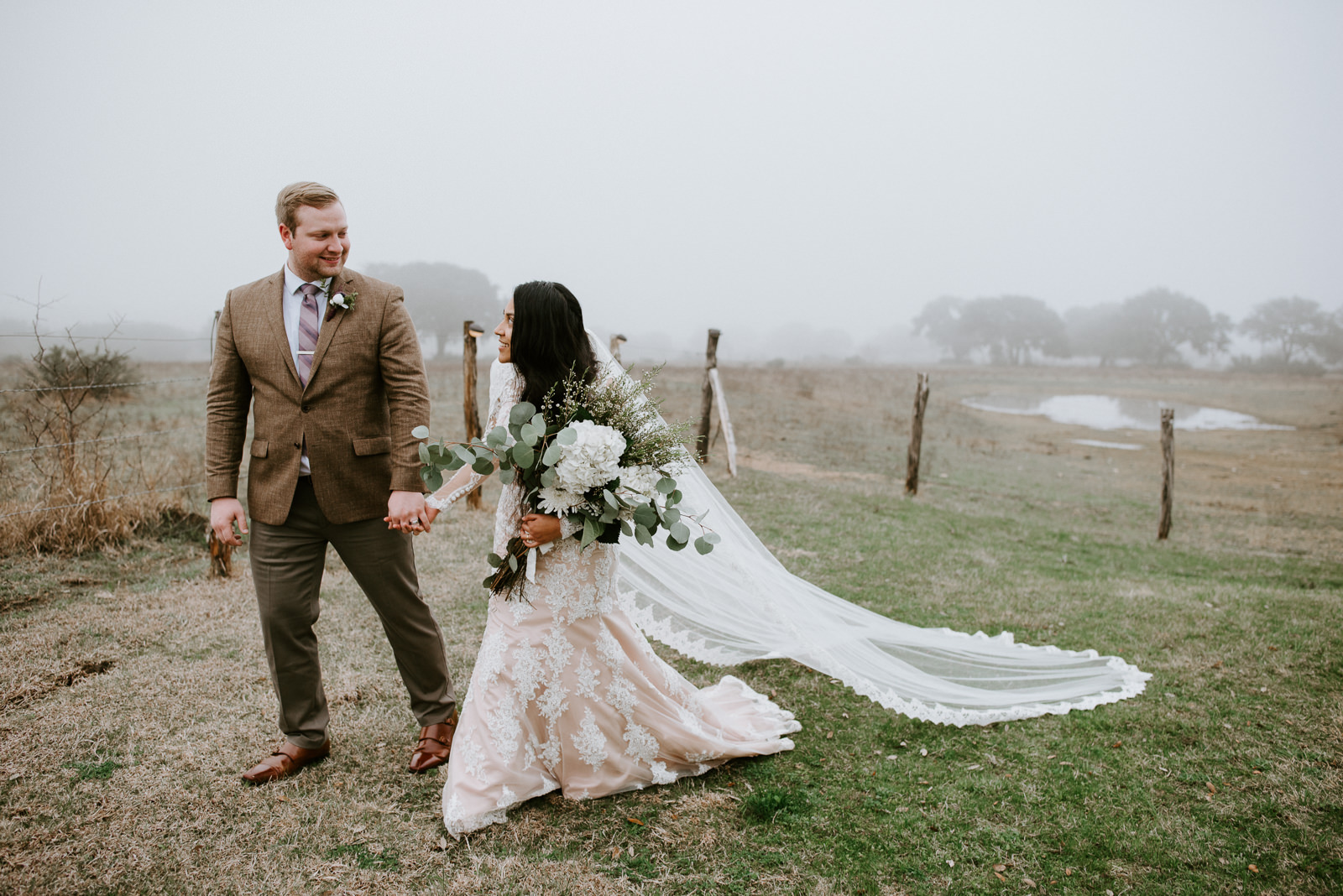 bride and groom at stonehouse villa wedding