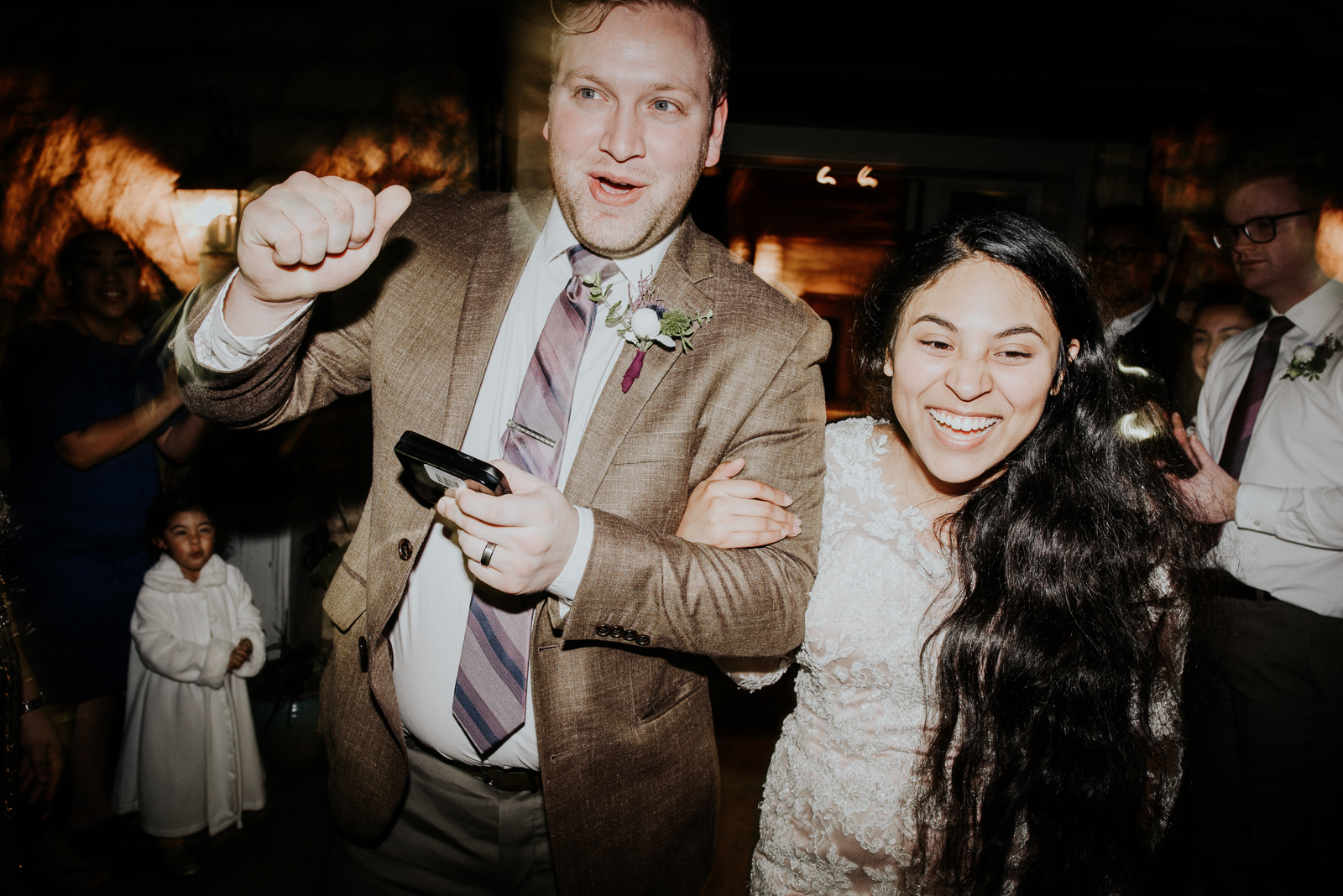bride and groom sendoff at stonehouse villa wedding