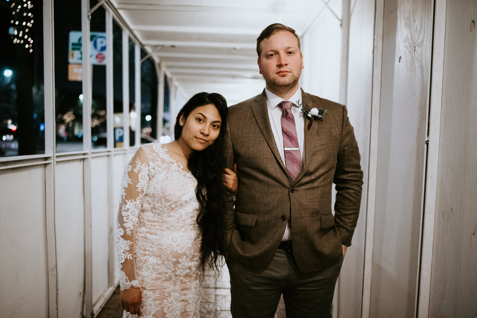 night time wedding portraits in austin texas