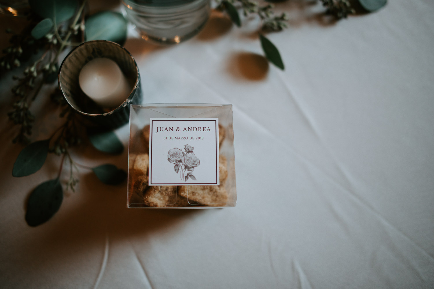 Custom wedding guest favor boxes