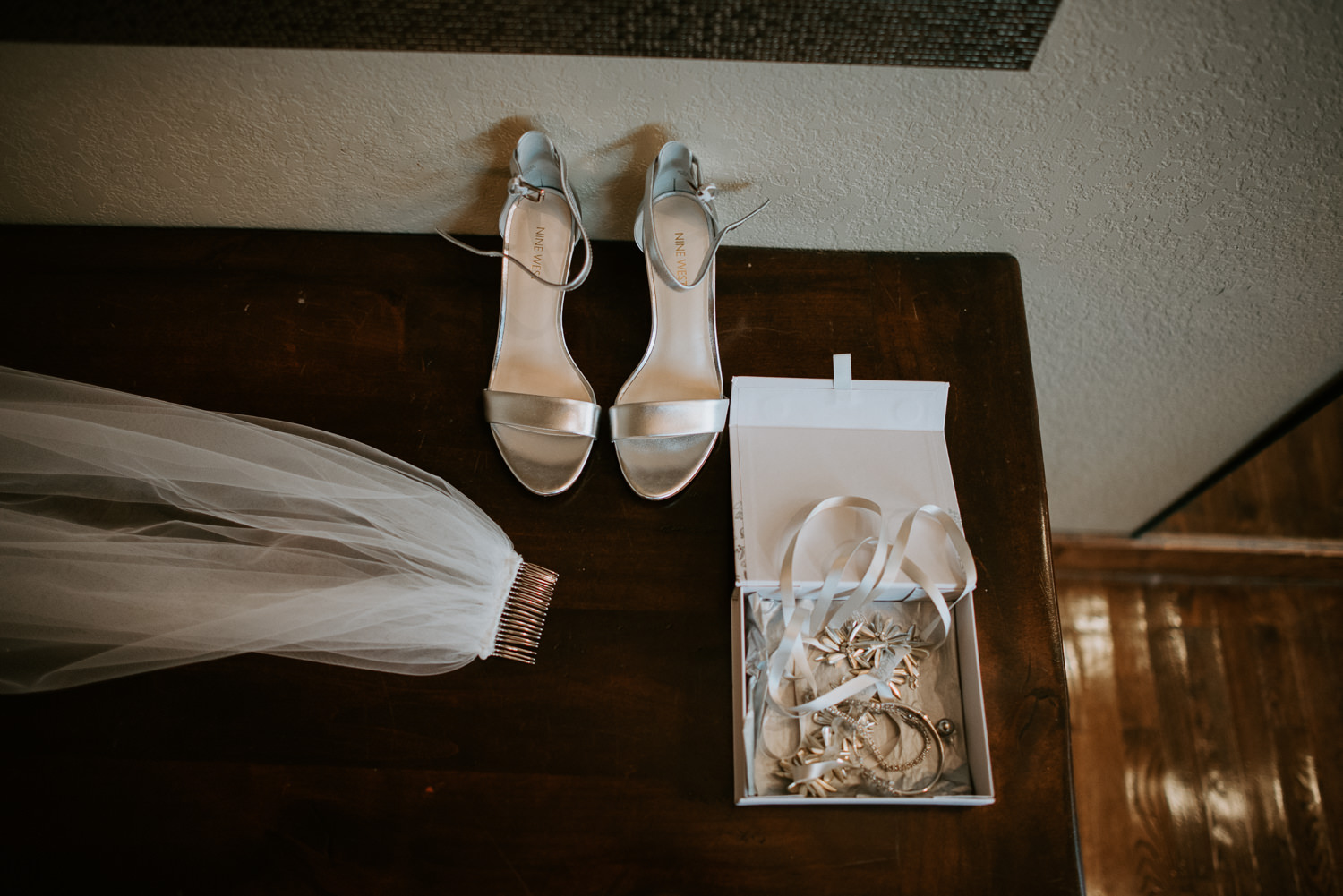 Bridal veil shoes and jewelry for houston texas wedding