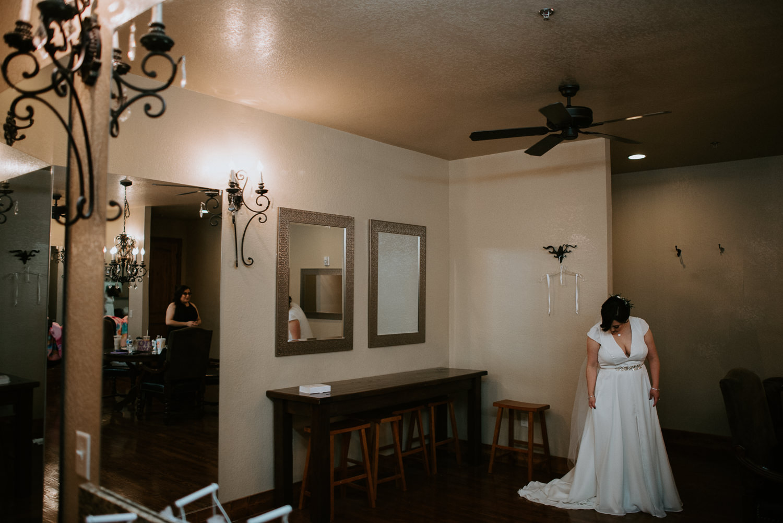 Bride in Elizabeth Dye dress