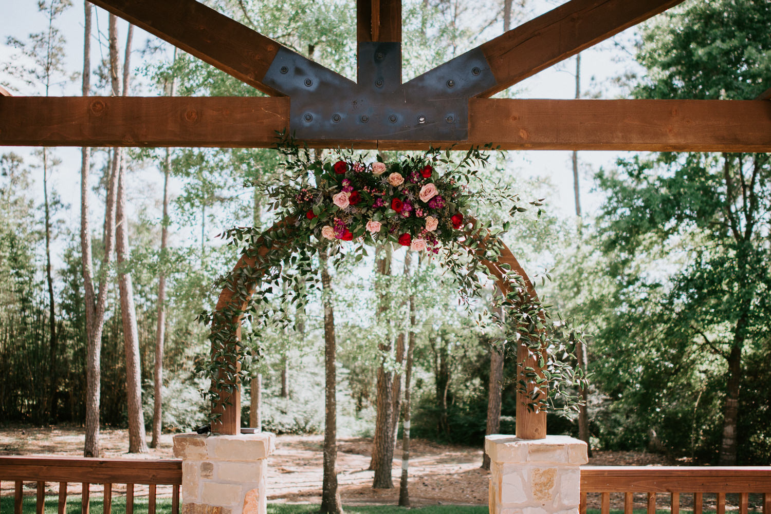 Floral wedding arch at The Springs Event Venue