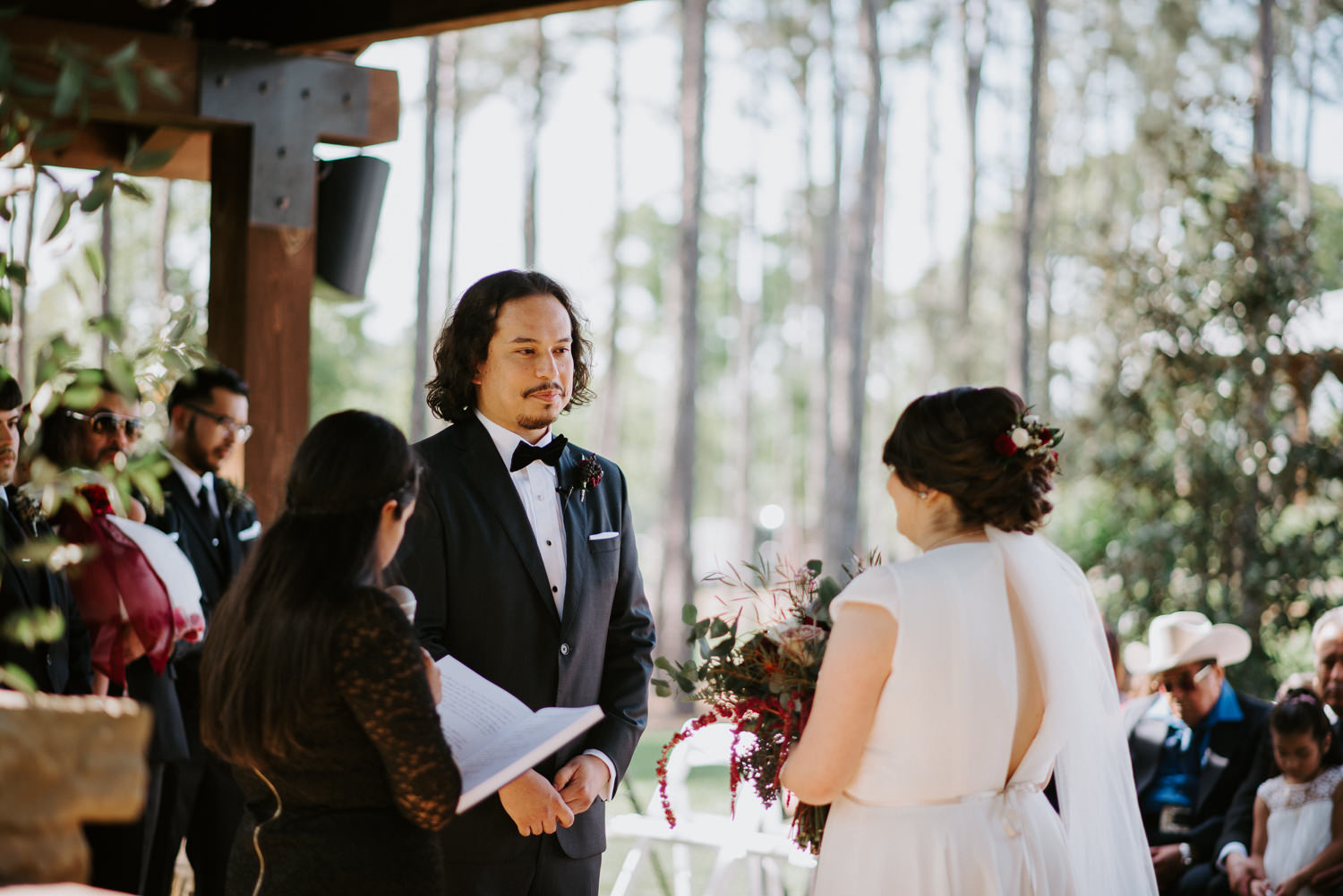 Wedding Ceremony at The Springs in The Woodlands
