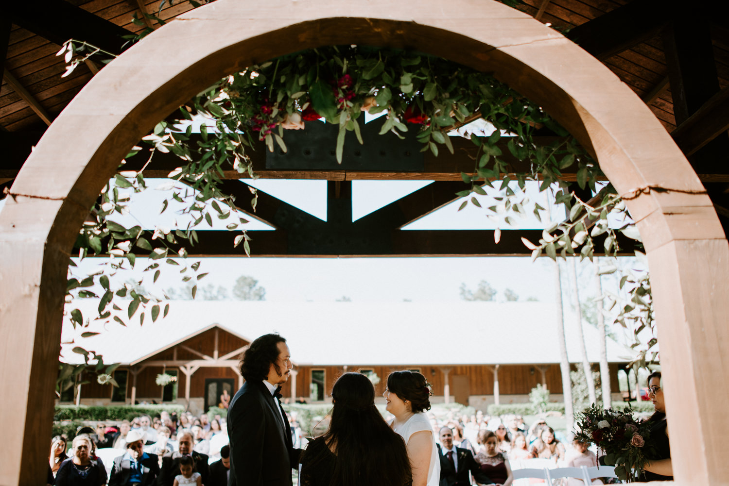 floral wedding arch at The springs at the woodlands