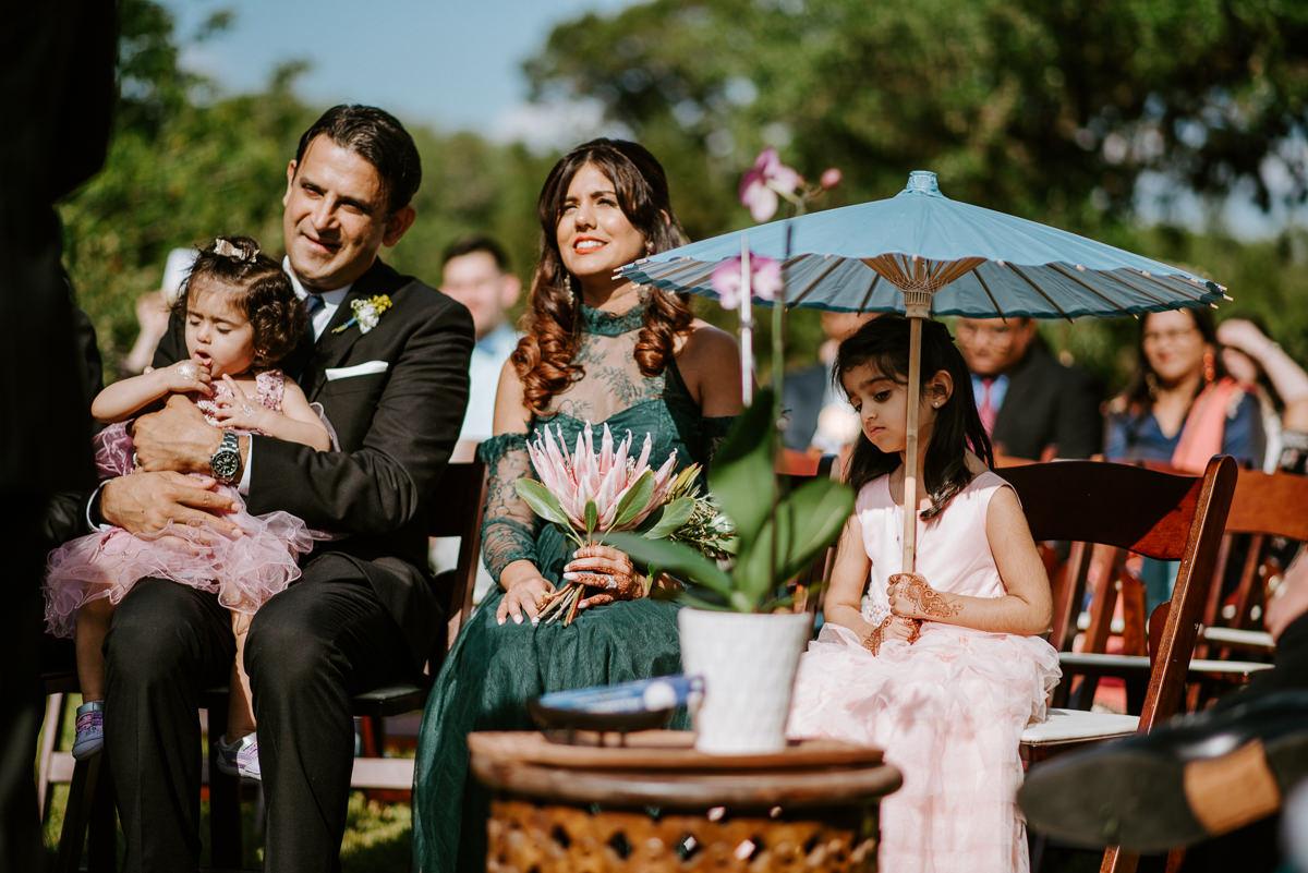 family watch wedding ceremony in austin texas