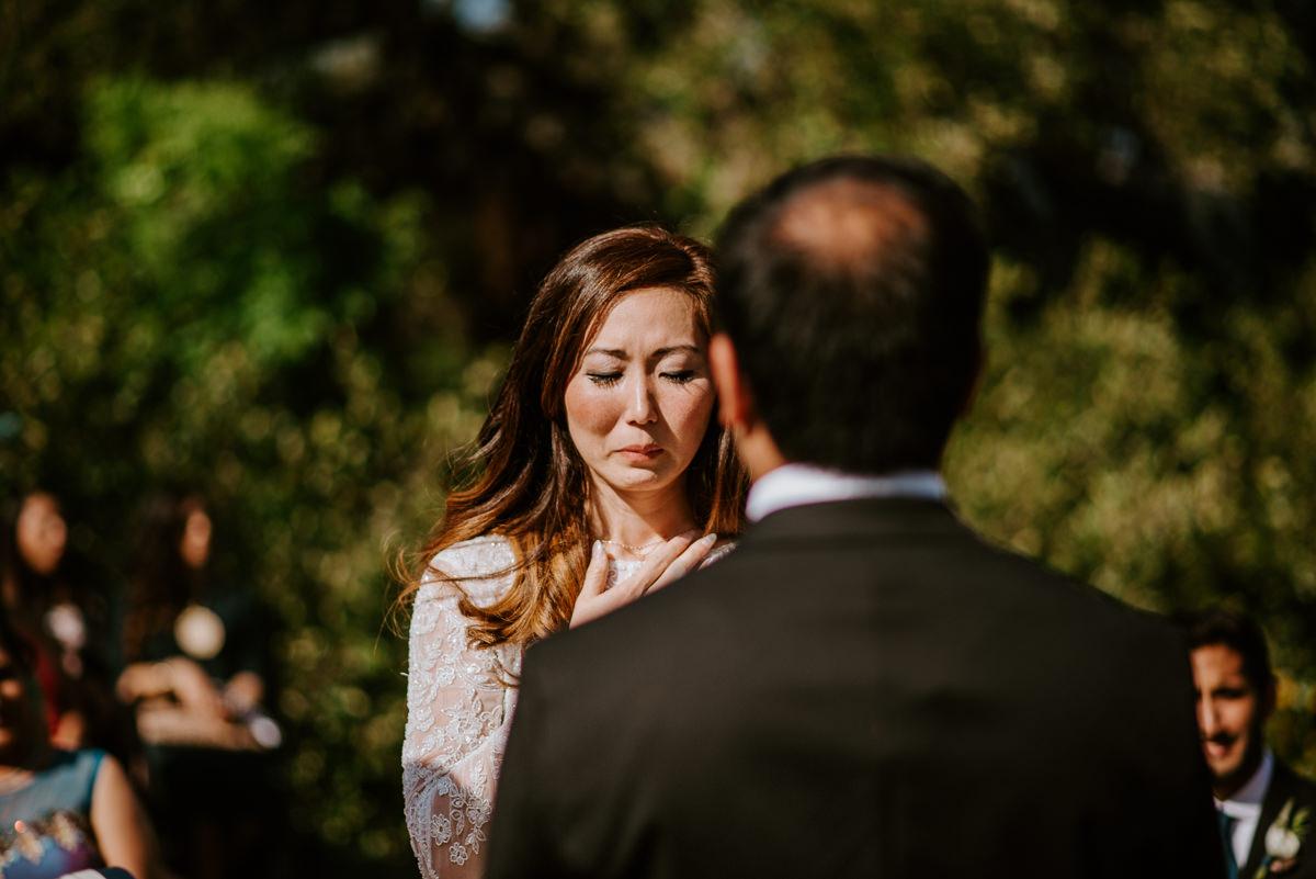 bride reads vows at austin texas wedding
