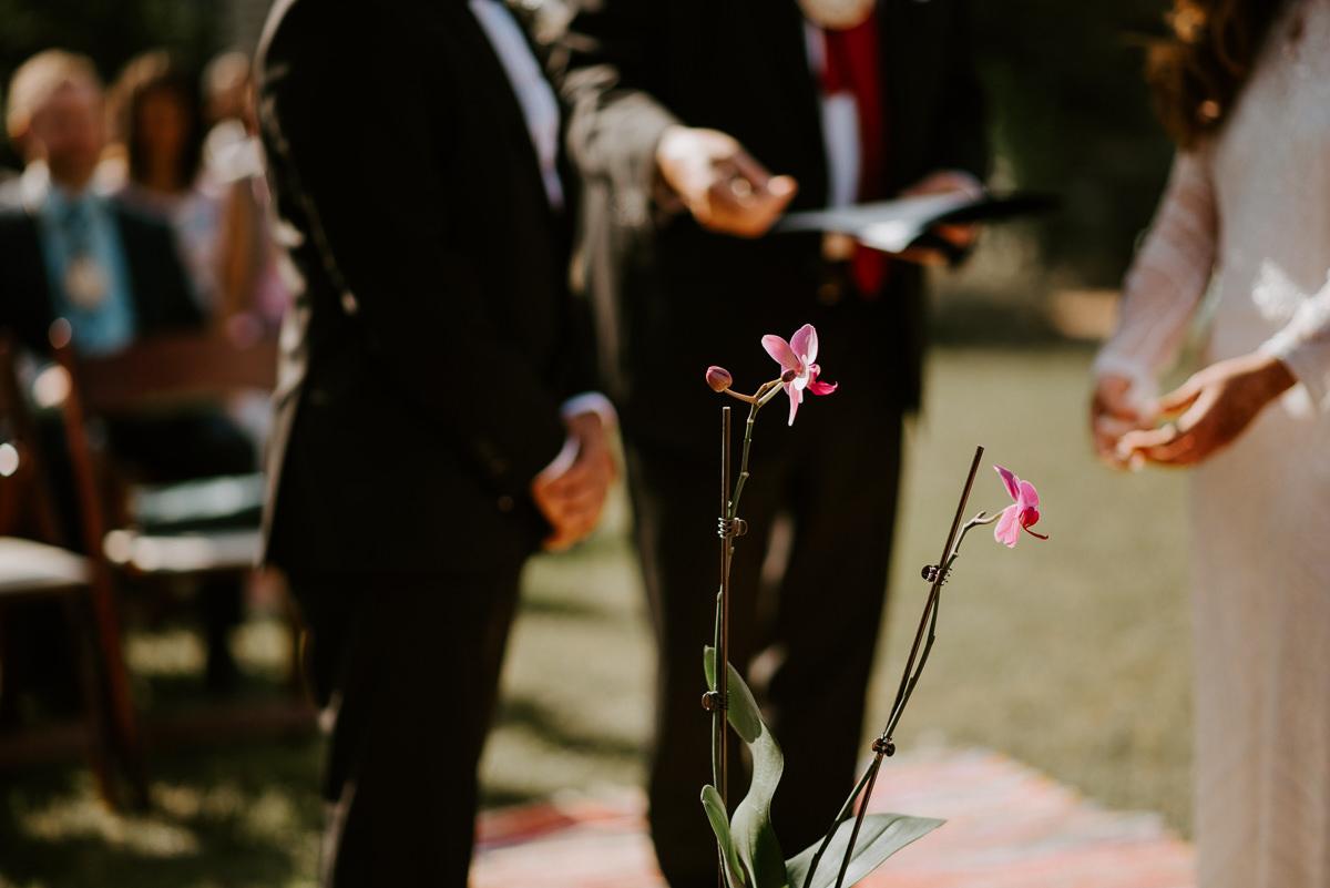orchid wedding ceremony