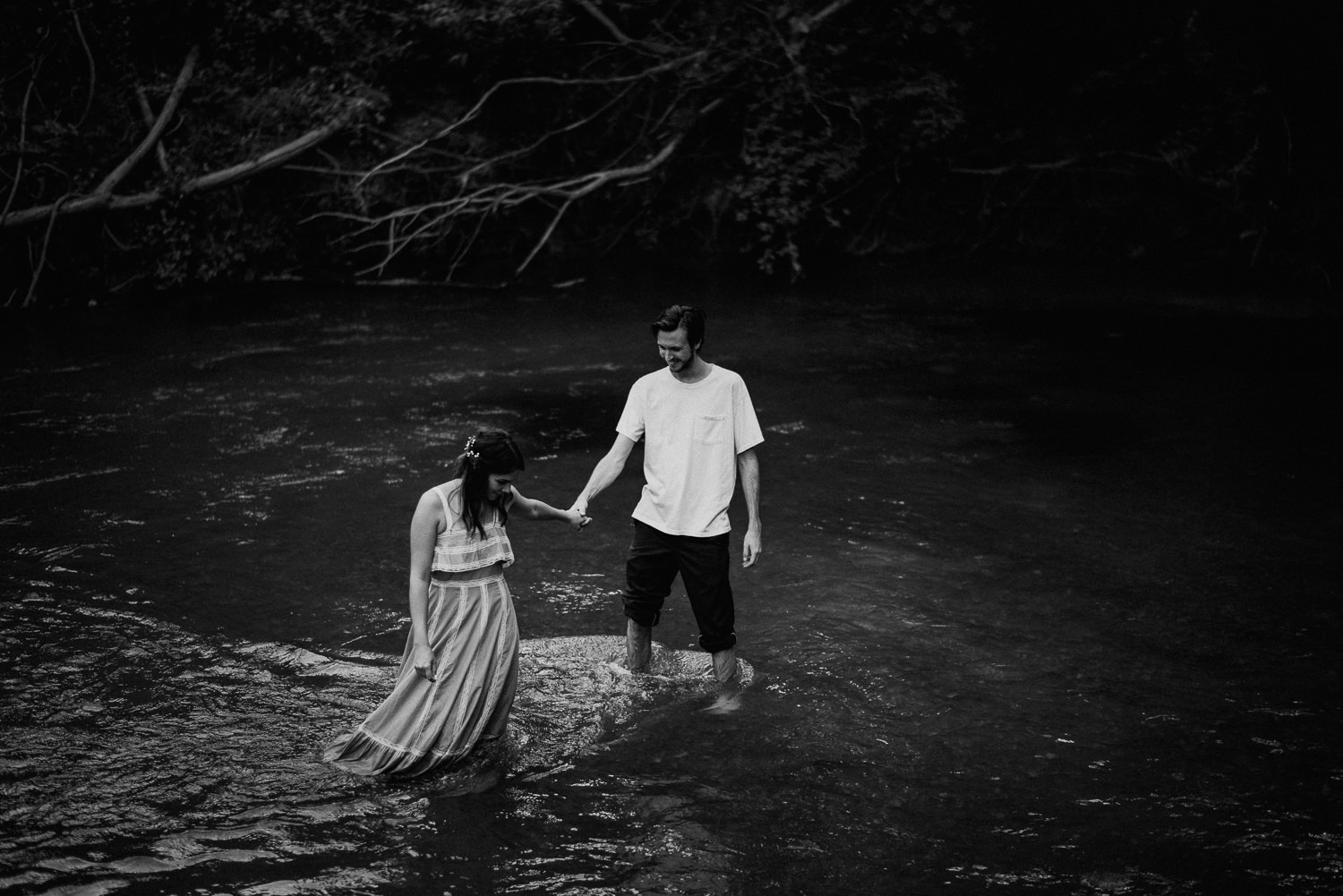 moody engagement photos