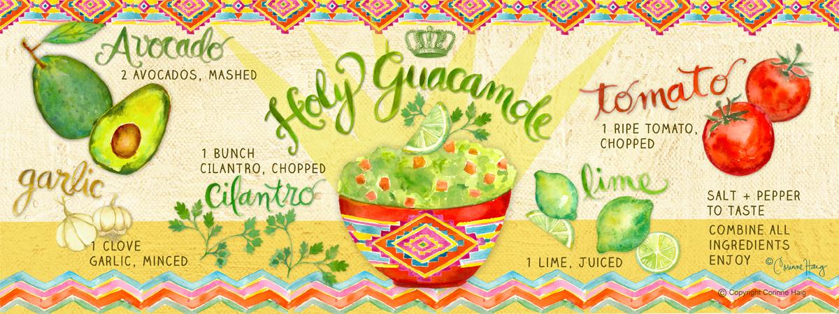 Holy Guacamole Illustration by www.corinnehaig.com
