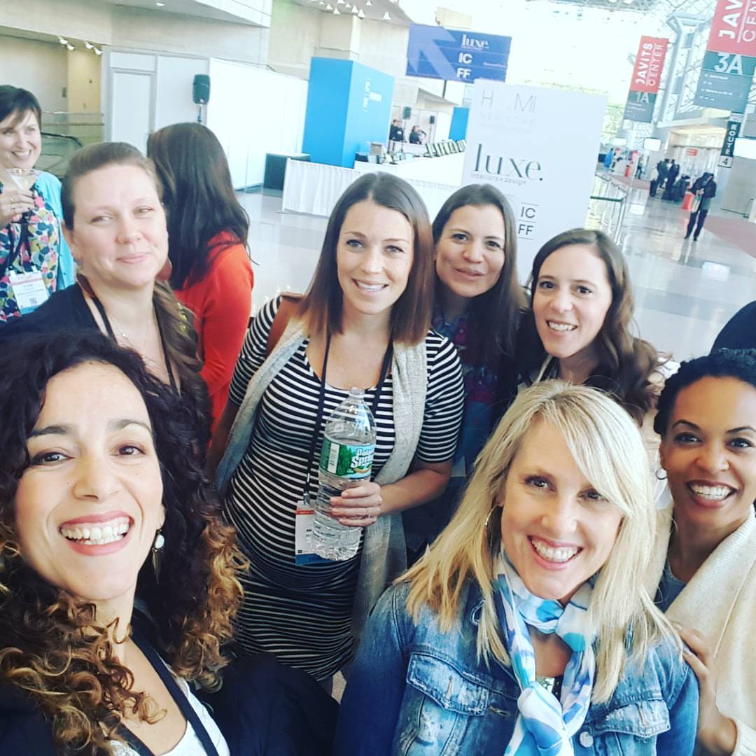 Fun times after the first day of Surtex at the Javits. Some of the ladies shown in this photo: Dariana Cruz, Corinne Haig, Jeanetta Gonzales, Claire Picard, Dawn Bouteiller, Anne Bolman, Carolina Coto and Beth Schneider.