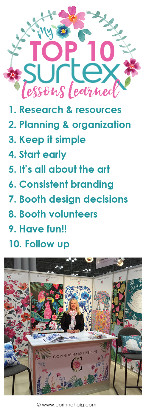 My Top 10 Lessons Learned at Surtex 2016.