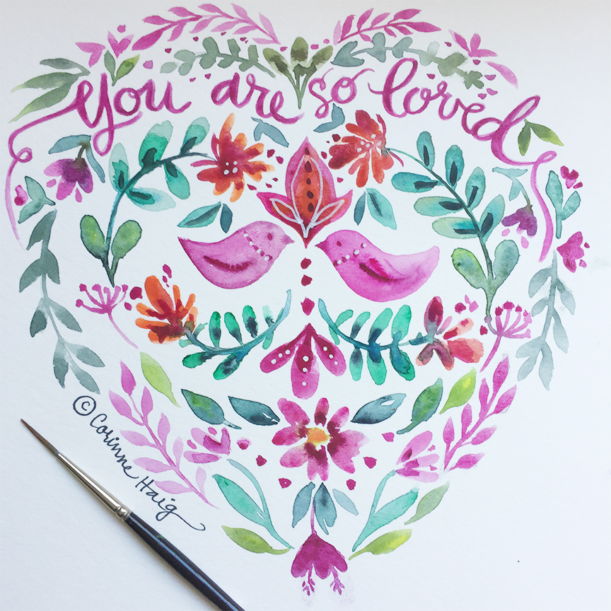 You Are So Loved illustration by Corinne Haig