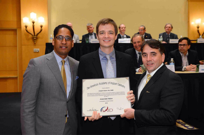 Dr. Joseph Ata is an Associate Fellow of the American Academy of Implant Dentistry
