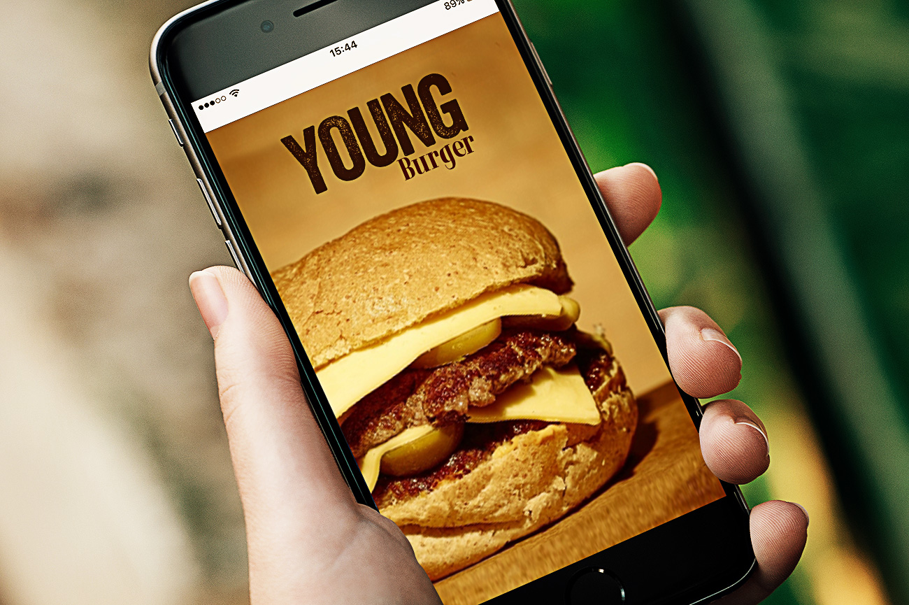 Delivery young burger