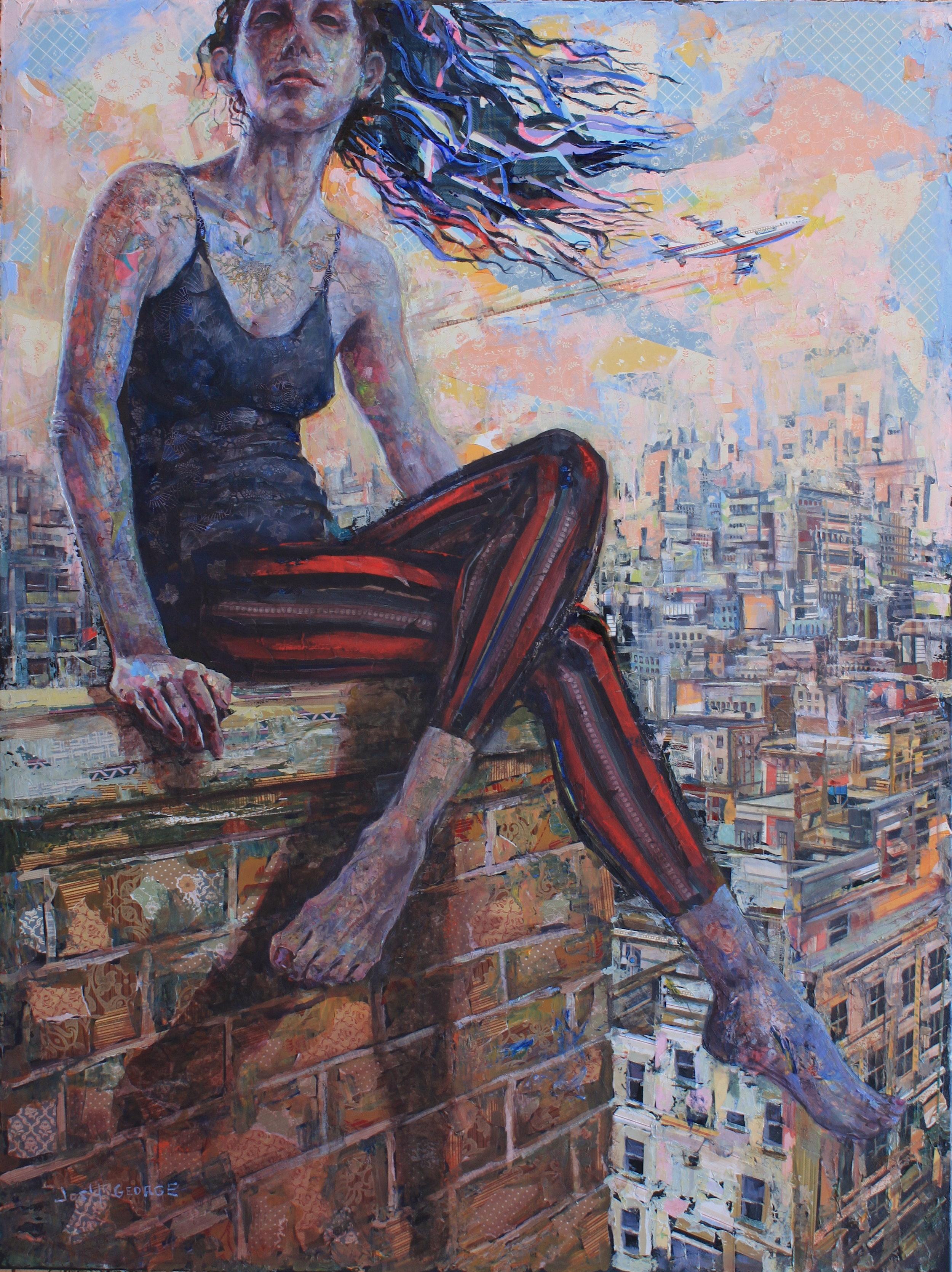 JOSH GEORGE %22To The Rainbows We Go%22 48%22 x 36%22 mixed media on canvas $5400.JPG