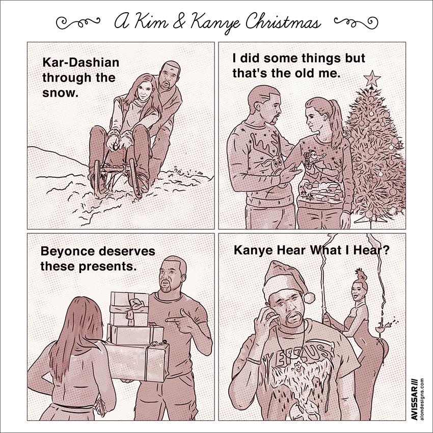Alon Avissar Kim & Kanye Christmas.jpg