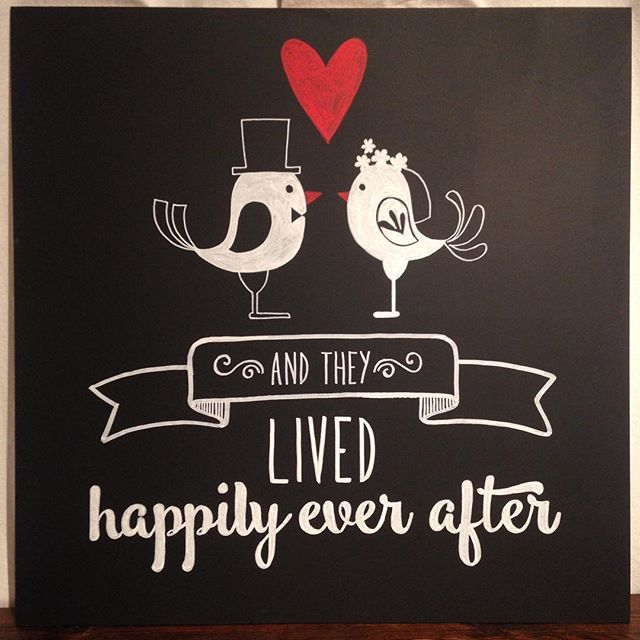 I ❤️ animal inspiration! Two lovebirds in their wedding attire grace this #chalkboard. Who would your wedding #spiritanimal be?? #yyzwedding #toronto #torontoweddings #chalkboardart #weddinginspiration #handdrawn #calligraphy