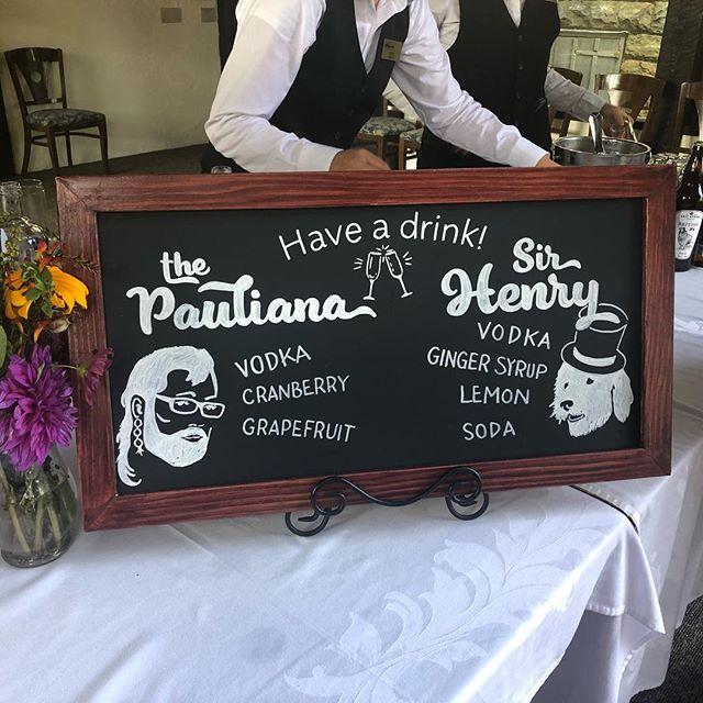 My best friend is getting married today! #wedding #weddingsigns #weddingdecor #bestfriend #chalkboardart