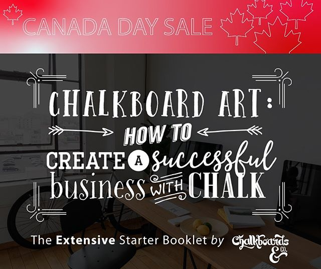 Canada day sale on now! Lowest price ever of ***$152 off*** for Canada's 152nd birthday! If you want a jump-start on your own chalkboard business, get. this. book! Complete with supplier list, search engine optimization tips, and everything else!! #chalkboardart #chalkboardsigns #chalkboard  Link in bio
