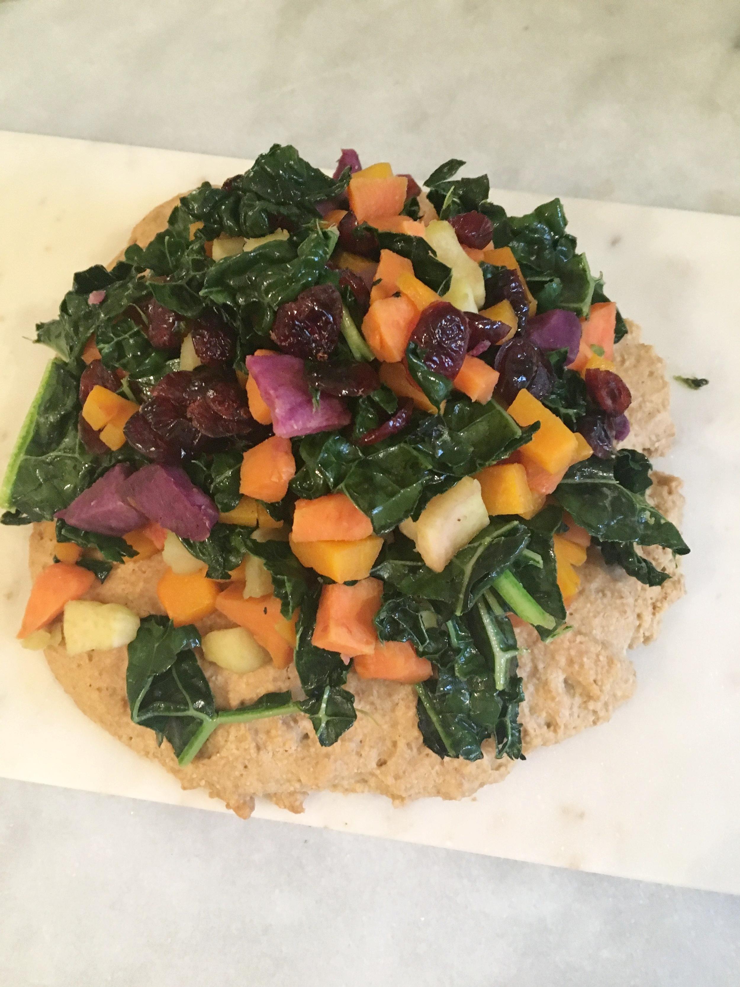 Paleo Vegetable flatbread