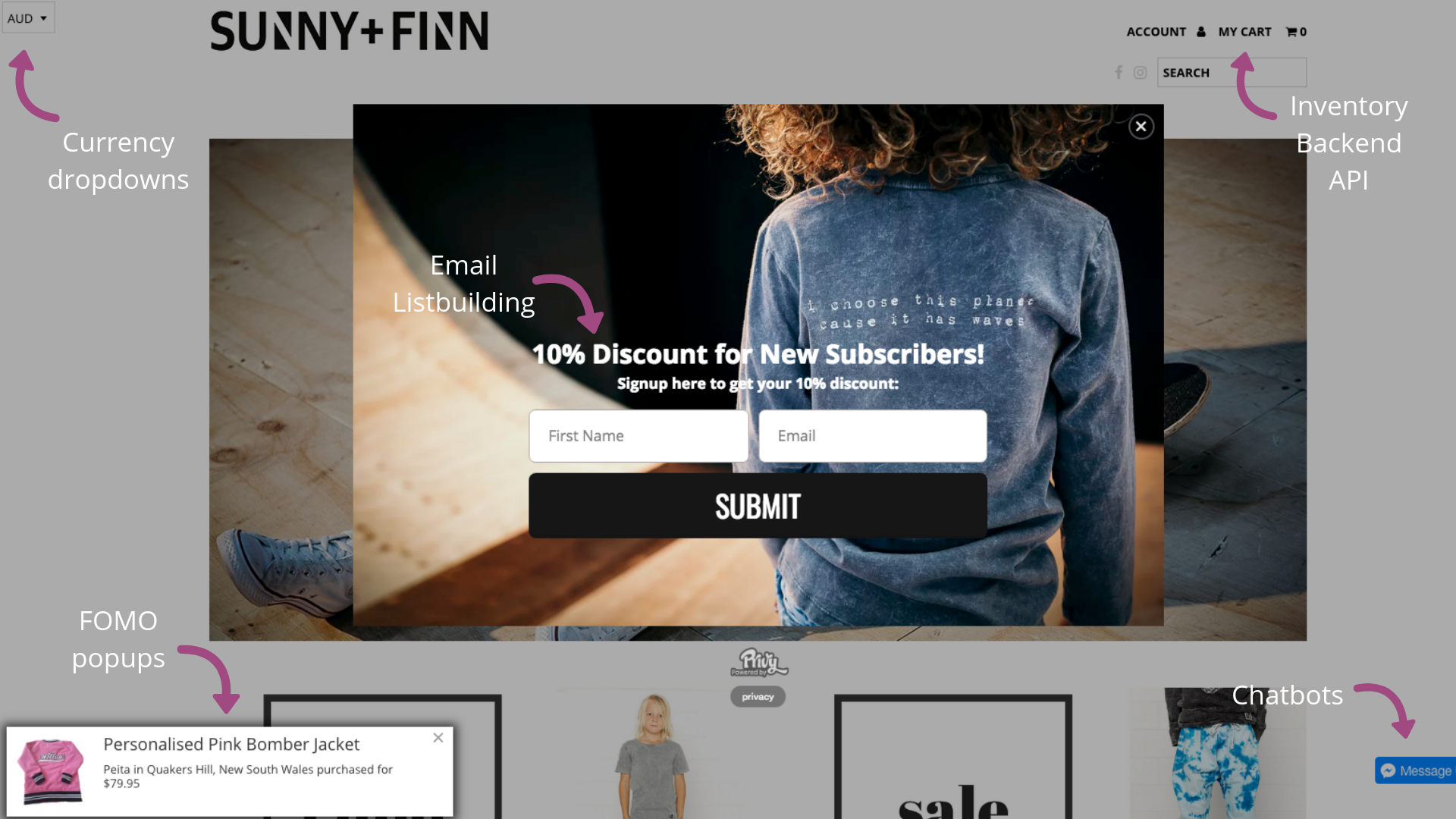 e-commerce website optimized for sales