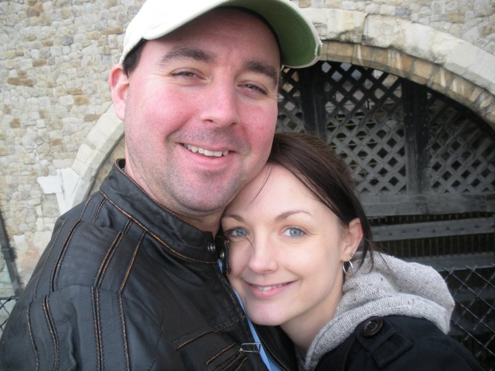 I am married to my best friend Eric. We met while working together at a grocery store. We were friends for a few years before we started dating and we've been inseparable ever since.